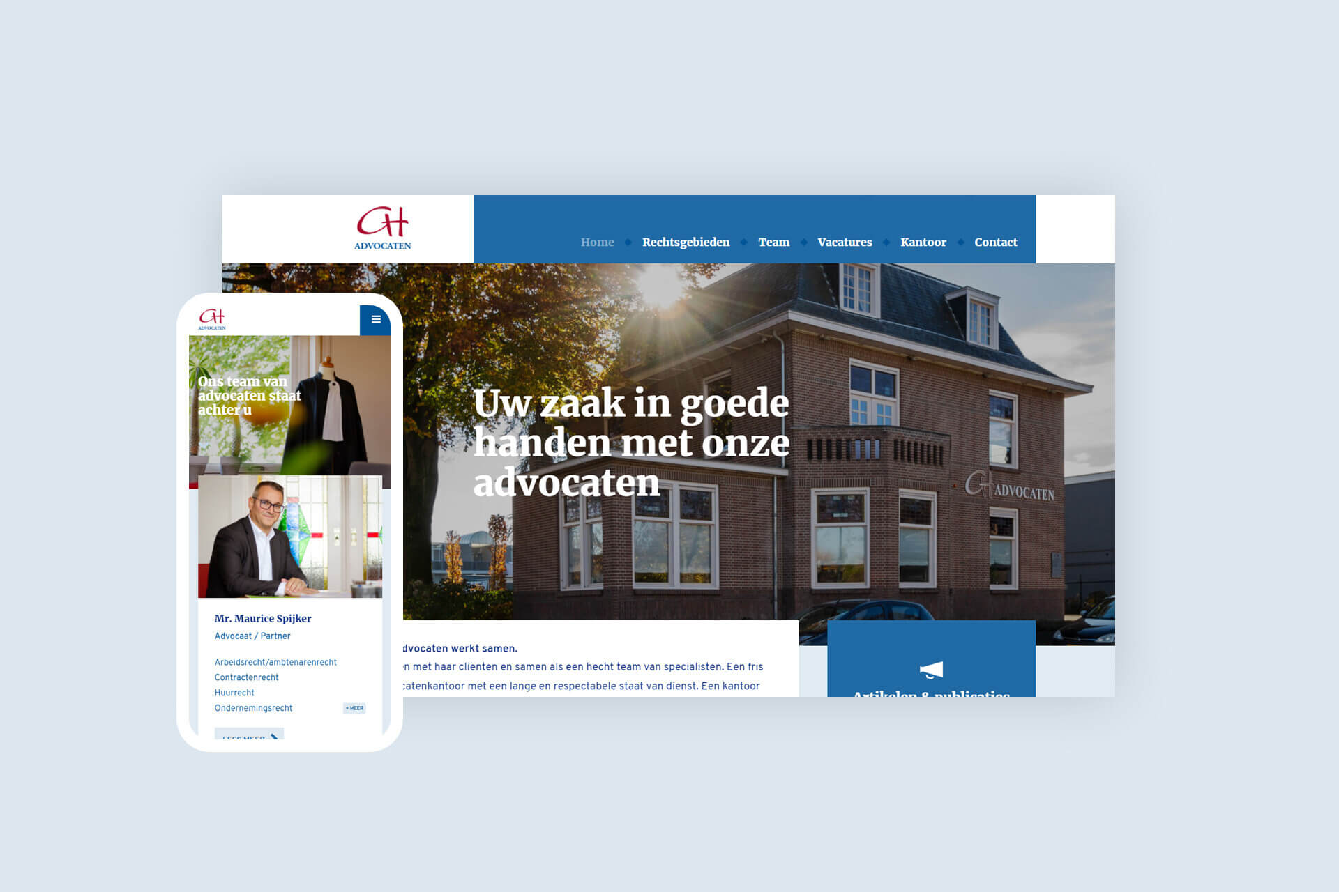 Website voor Boxmeerse advocaten