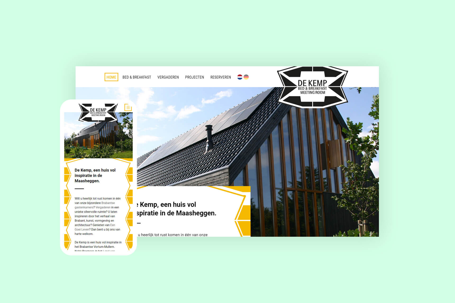 Website voor bed & breakfast in de Maasheggen